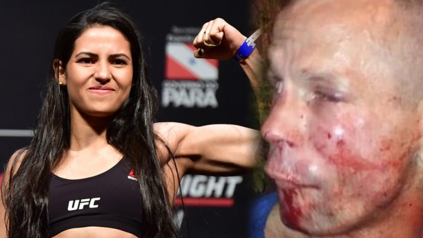 Mugger Gets Brutal Beating After Trying To Rob UFC Star Polyana Viana With Cardboard Gun