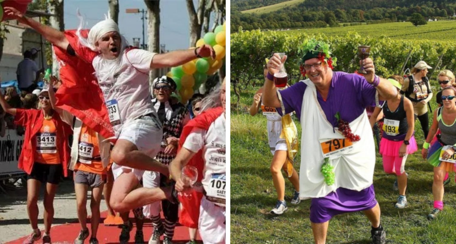 French Marathon Where People Drink Wine And Eat Cheese