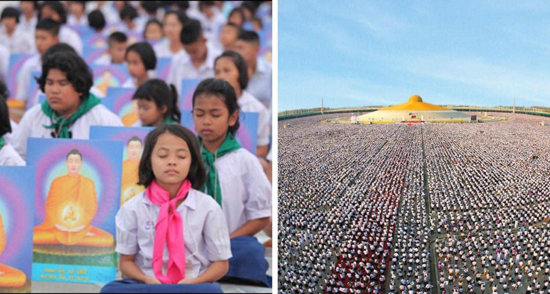 1 Million Children' Meditate For World Peace In Thailand