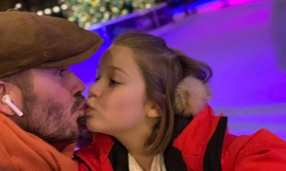Celebrities Kiss Their Kids On The Lips In Support Of David Beckham