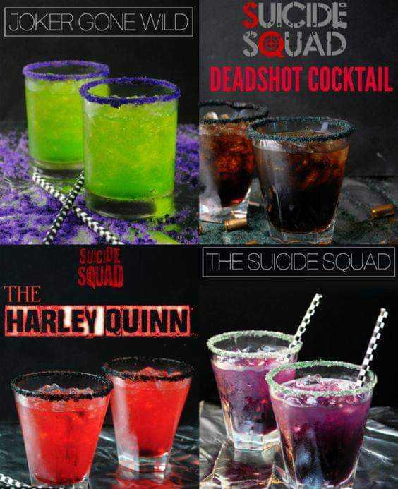 Check Out Suicide Squads Signature Cocktails