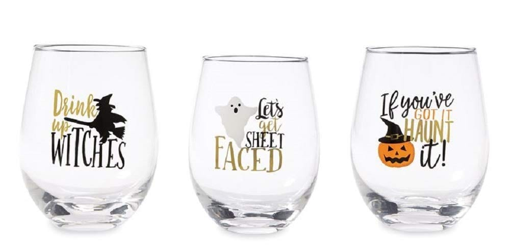 Get Ready For Halloween With These Awesome Jack O' Lantern Wine Glasses