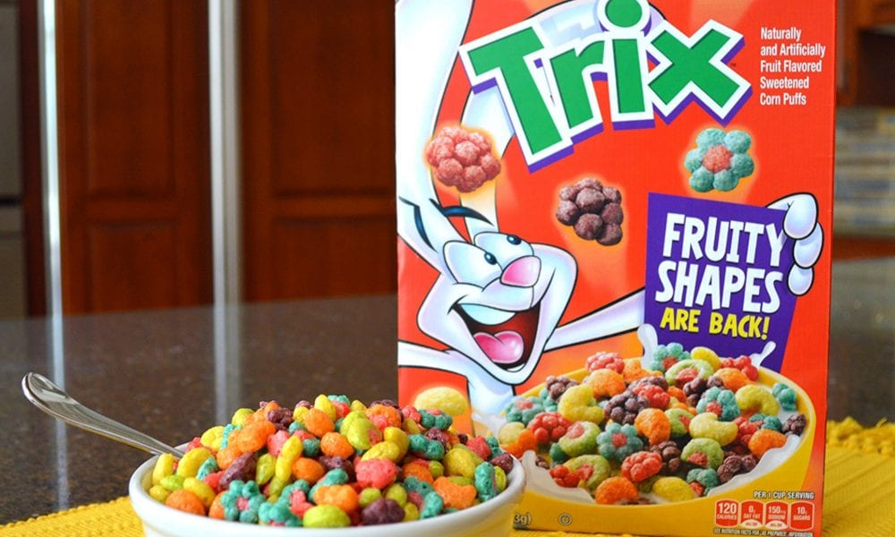 trix cereal's fruit-shaped pieces from the '90s are making a glorious comeback