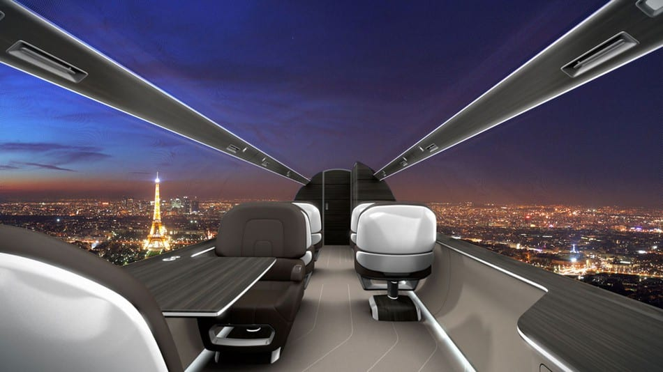 windowless planes will give passengers a scenic view of the sky