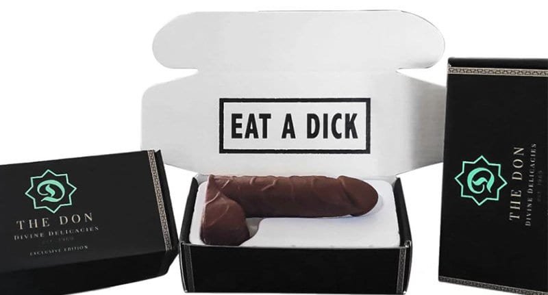 you can anonymously send someone a chocolate dick