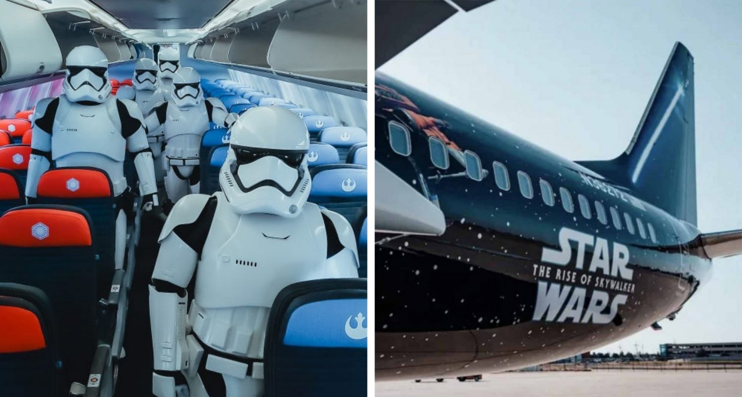 You Can Now Book Flights On United Airlines' Star Wars-themed Boeing 737 Plane, And Here's What It Looks Like Inside