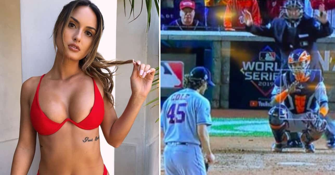 instagram models banned from baseball after flashing boobs during game