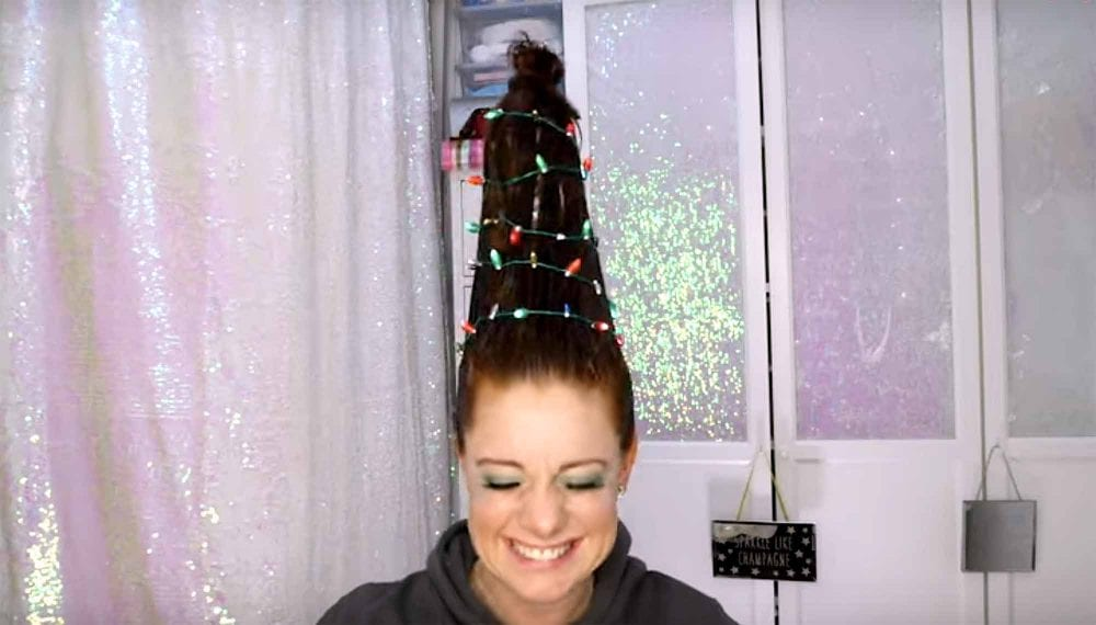 This Is The Hottest Christmas Trend This Holiday: Christmas Tree Hair