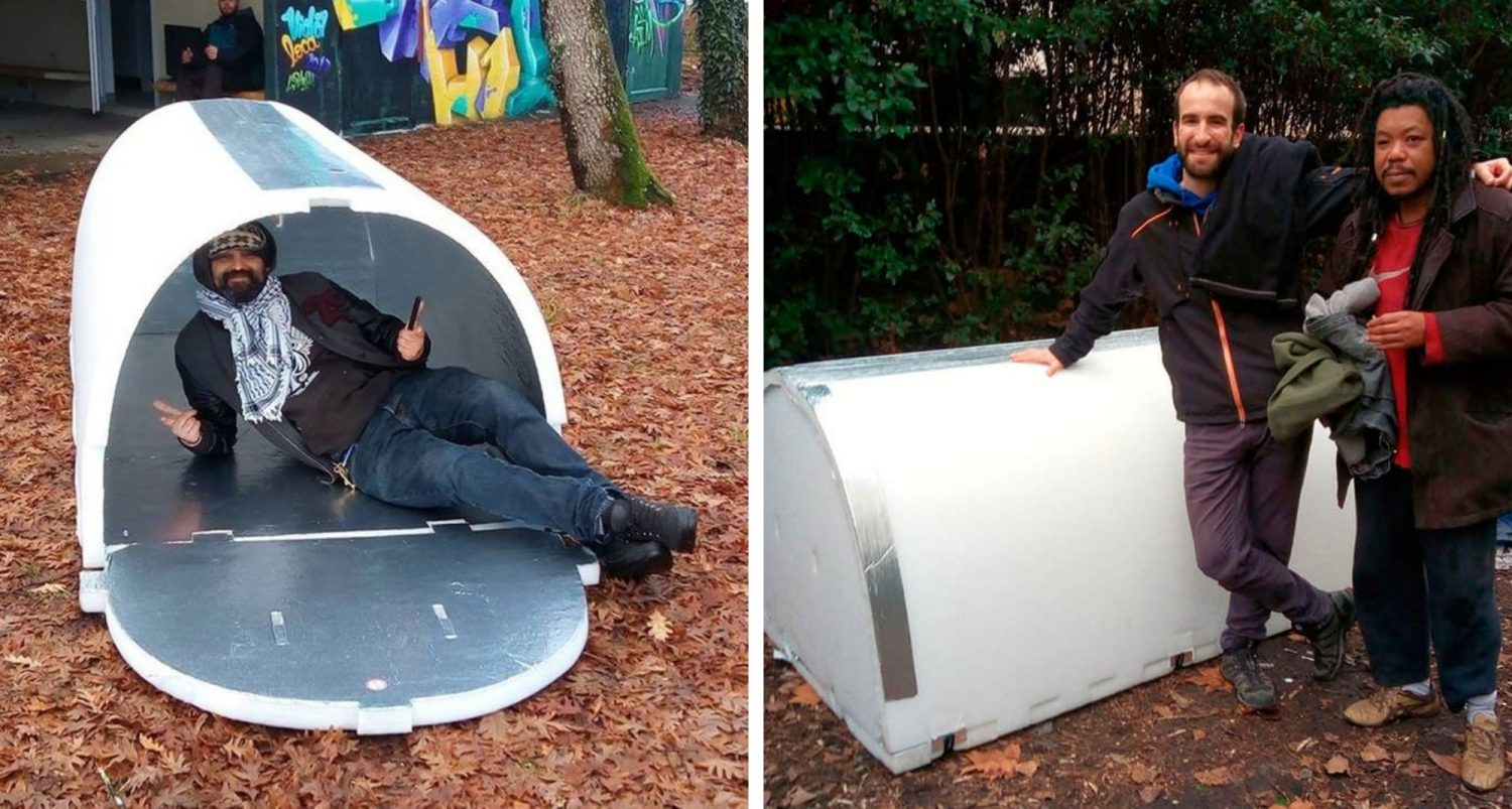 French Engineer Invents Ingenious Shelters For The Homeless That Retain Heat During Winter