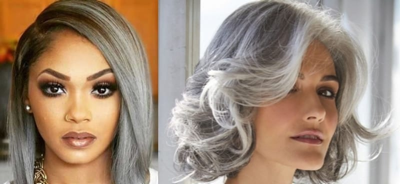 More Women Now Embracing Their Natural Grey Hair