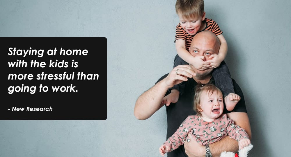 It's More Stressful Staying With Kids At Home Than Going To Work, Shows Study