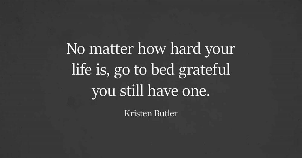 Staying Grateful Helps During Hard Times