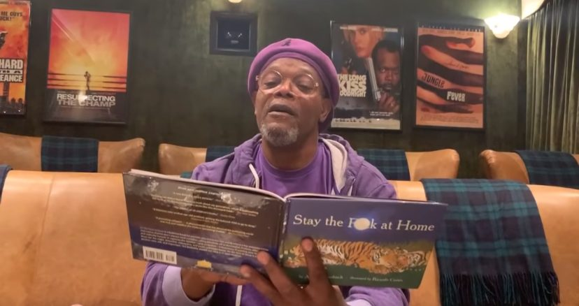 "Samuel L. Jackson Reads New Bedtime Story, ""Stay The F**k At Home"""