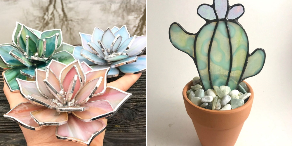 Stained Glass Plants Are Perfect For People Who Can't Keep The Real Thing Alive