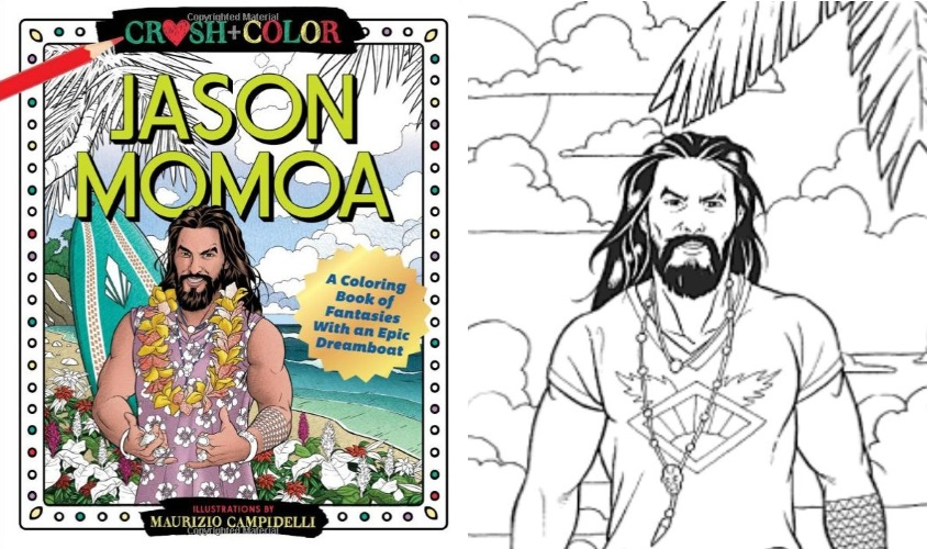 Stuck In A Routine? There's A Whole Jason Momoa Coloring Book Waiting For You