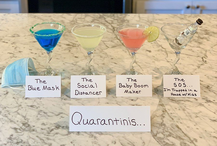These 'Quarantinis' Are Hilariously Delicious Cocktails For The Self-Isolation Era