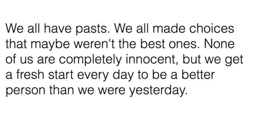 we all have pasts