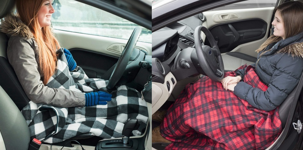 Stay Warm On The Road With A Heated Blanket That Plugs Into Your Car