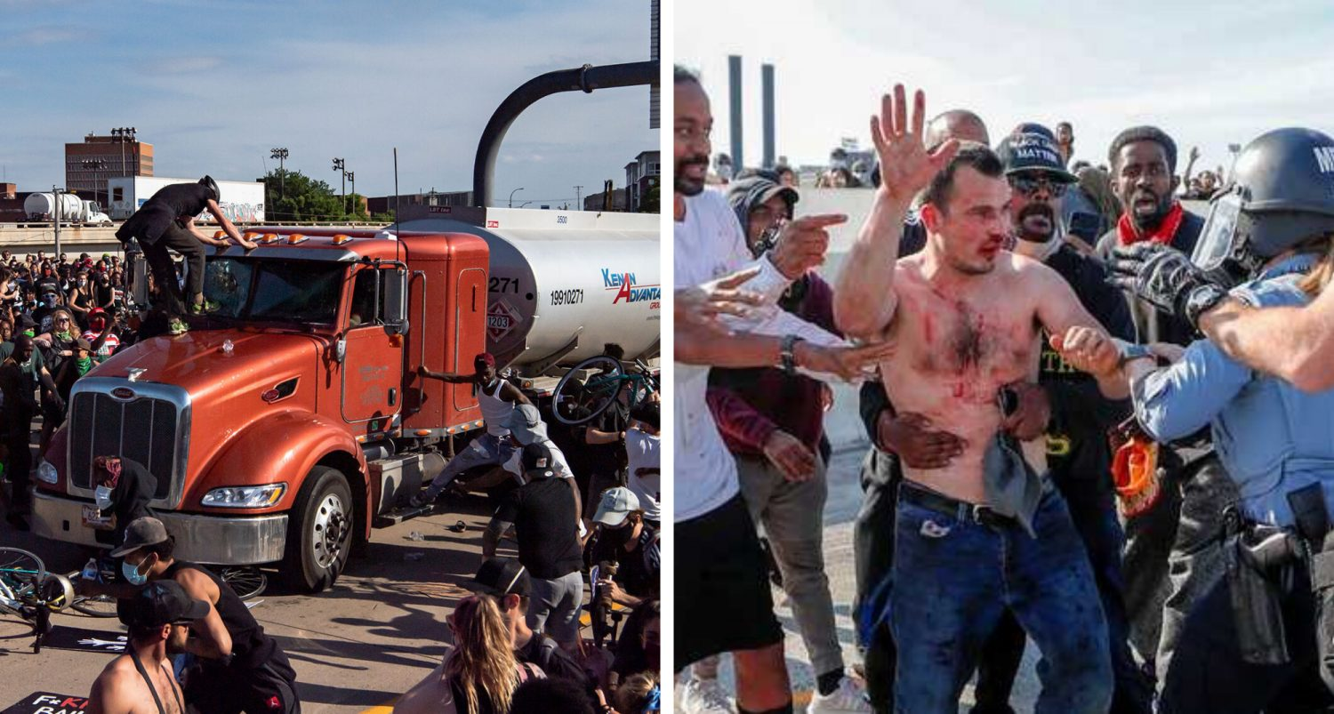 Truck Driver Who Sped Towards Protesters Released Without Charges