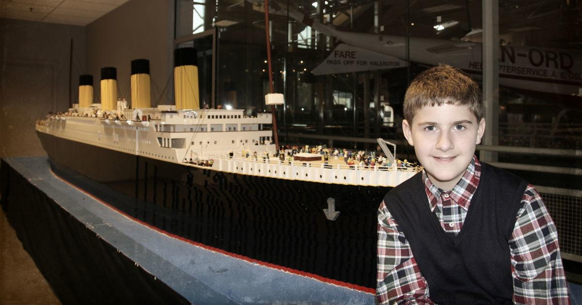 Autistic Boy Builds Largest Lego Replica of Titanic