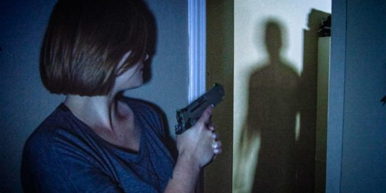 an intruder with a gun breaks into your house. what do you do?