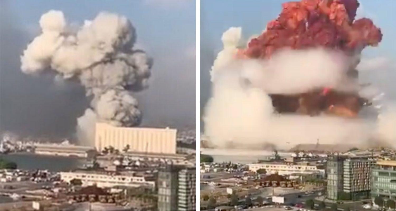 Massive Explosion Rocks Beirut After Fire At Firecracker Warehouse