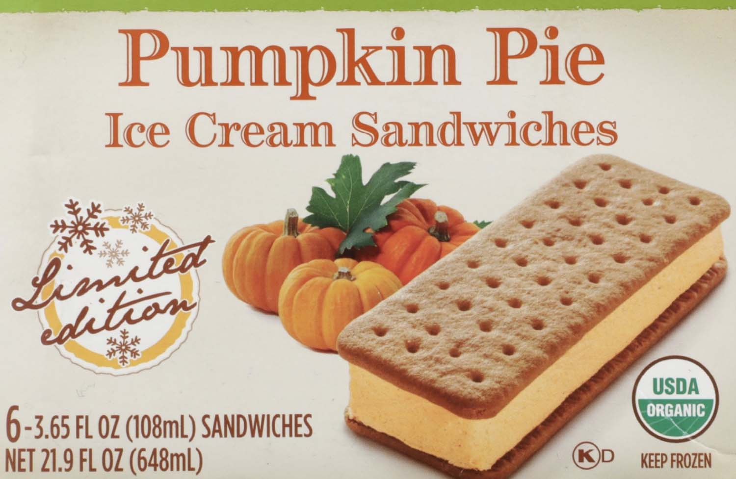 fancy an end of summer treat? enjoy the unique taste of pumpkin pie ice cream sandwiches!