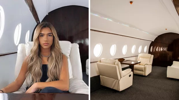 ig influencers are being exposed for photoshoots in a fake private jet in la