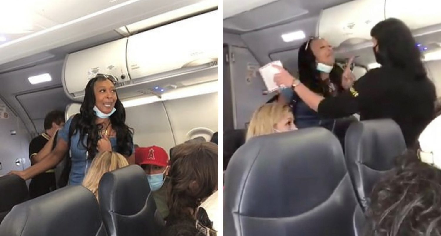 Obnoxious Black Woman Refuses To Move For White Flight Attendant, Shouts In Face Of White Passenger: 'wake Up, It's 2020!… You Don't Have White Privilege Over Me'