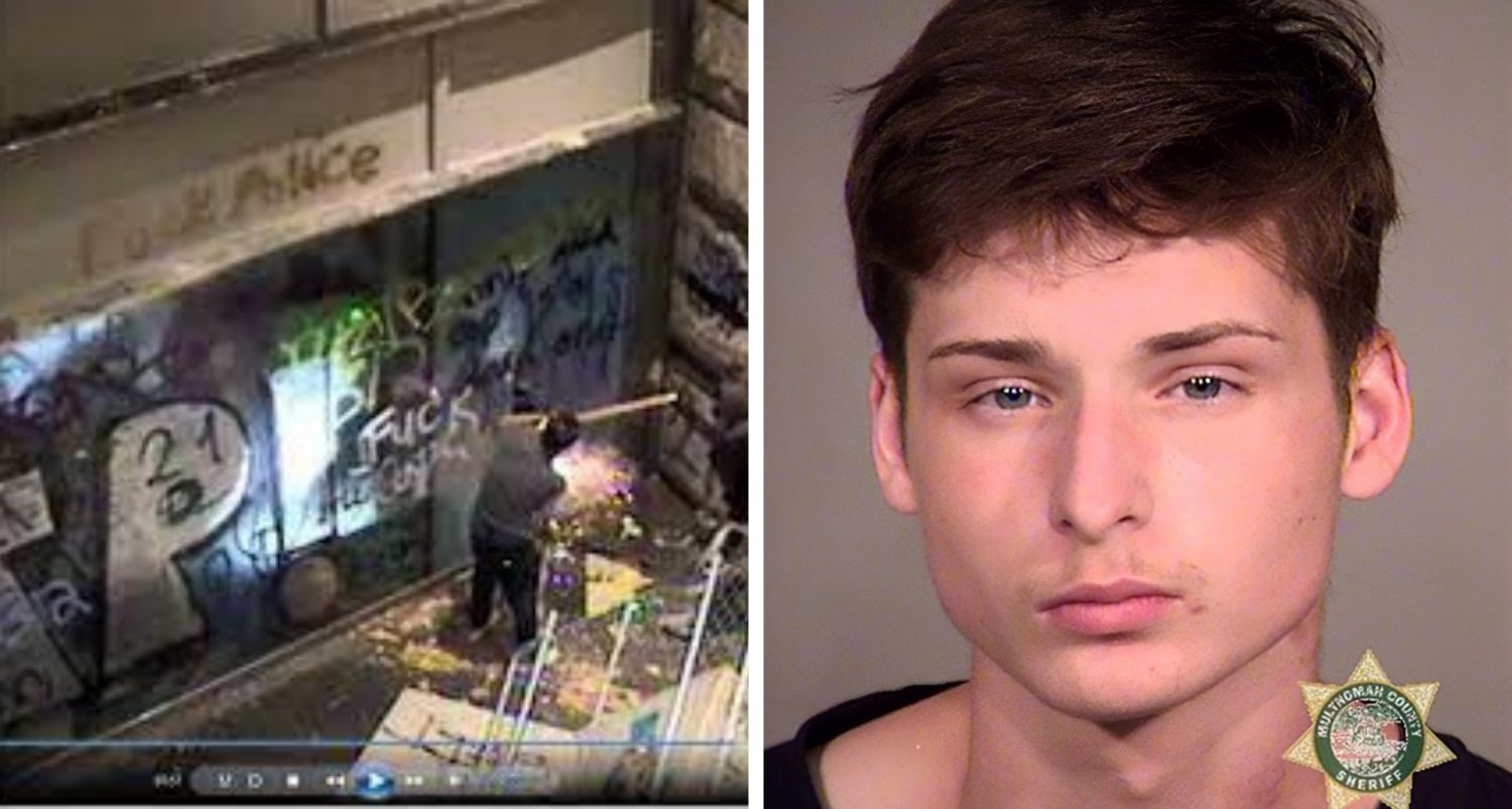 18-year-old Who Threw Explosive At Portland Courthouse Could Face Up To 30 Years In Prison