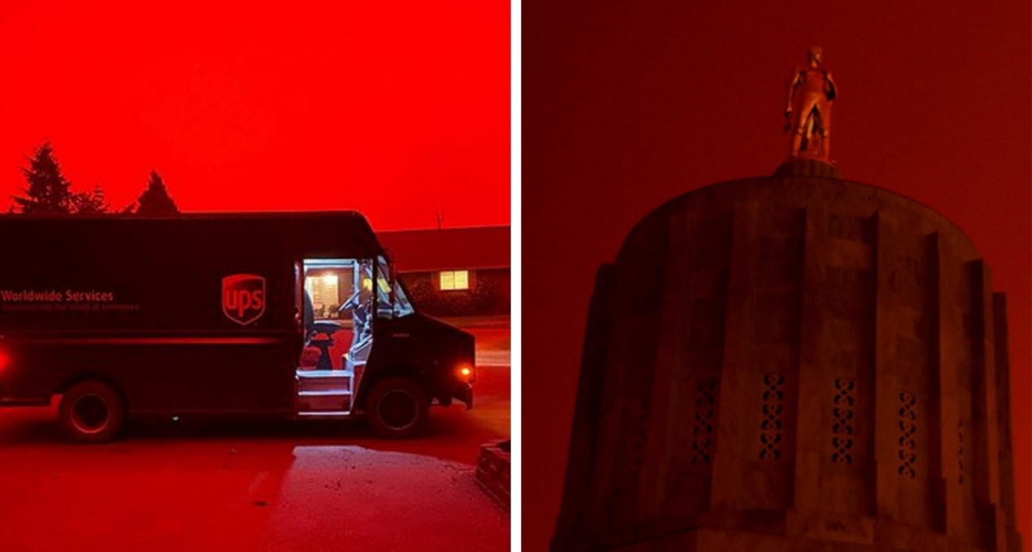 Apocalyptic Scenes In Several States As Skies Turn Blood Red Like Mars