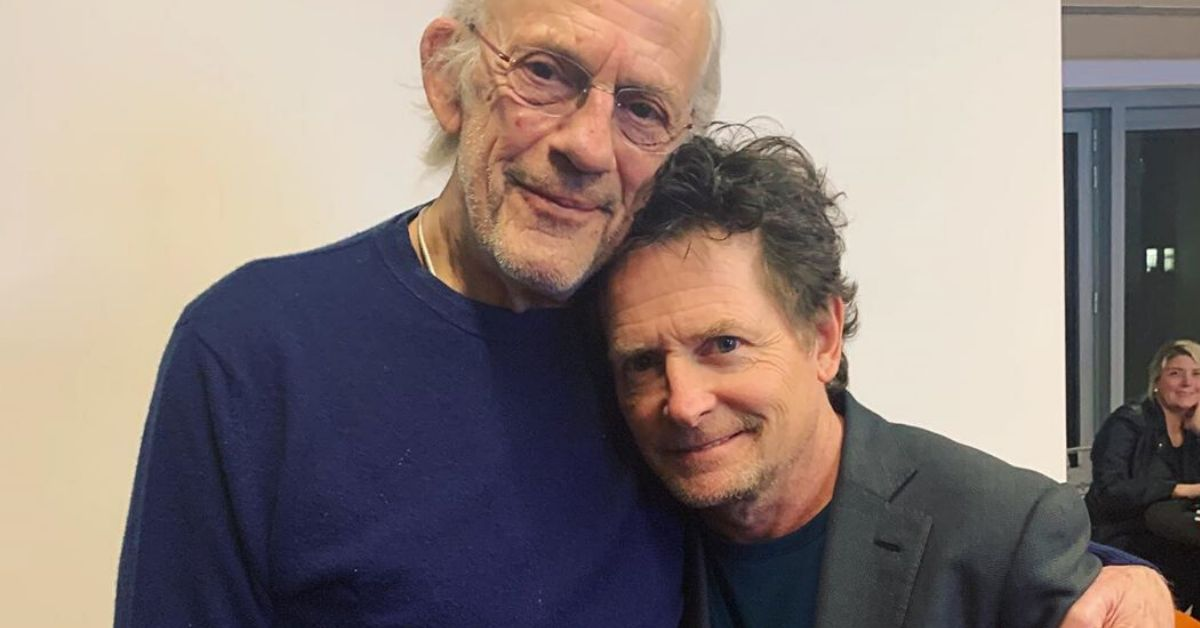 michal j. fox and christopher lloyd reunite 35 years after back to the future