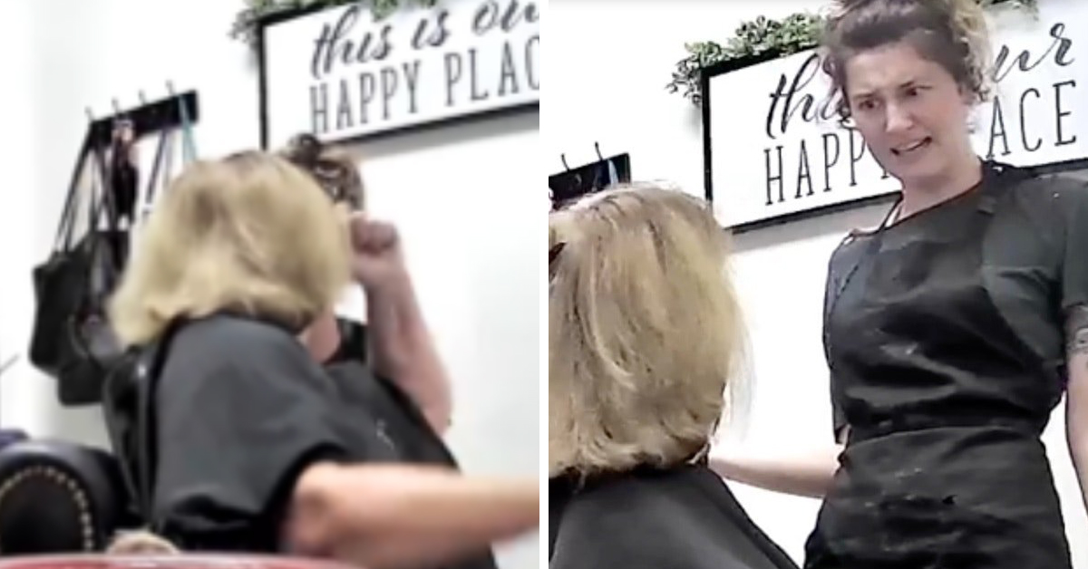 "Entitled ""Karen"" Tries To Hit Hairdresser Then Expects Her To Finish Dye Job"