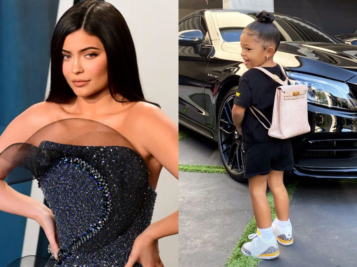 Kylie Jenner Sent Her Little Girl to First Day of Homeschool with a $12,000 Hermès Bag