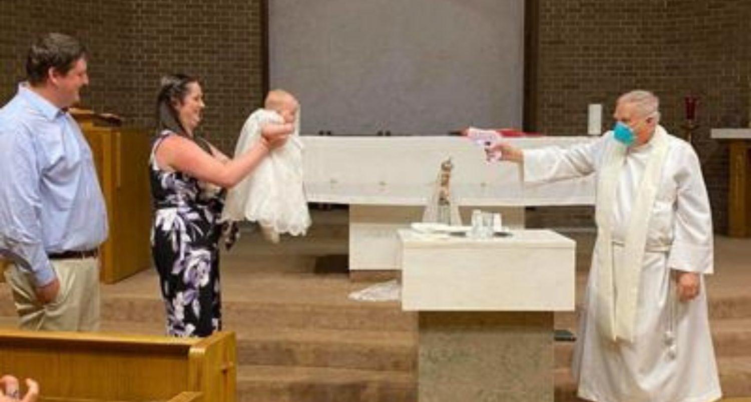 Priest Shoots Baby With Water Pistol To Baptise It