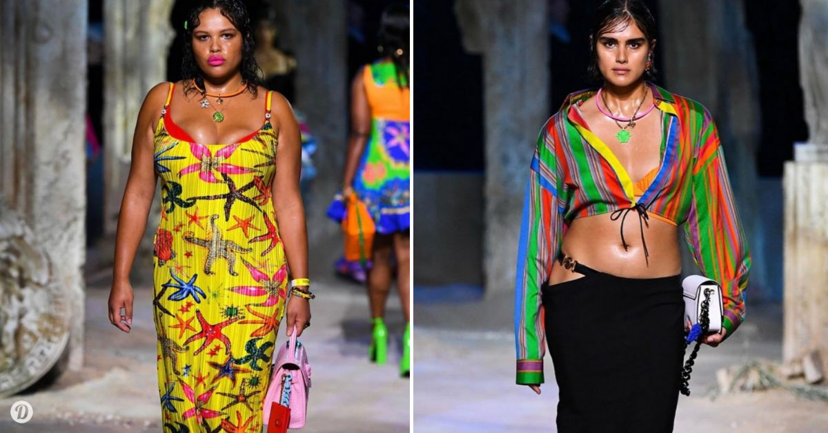 Three Curvy Models Steal The Versace Fashion Show