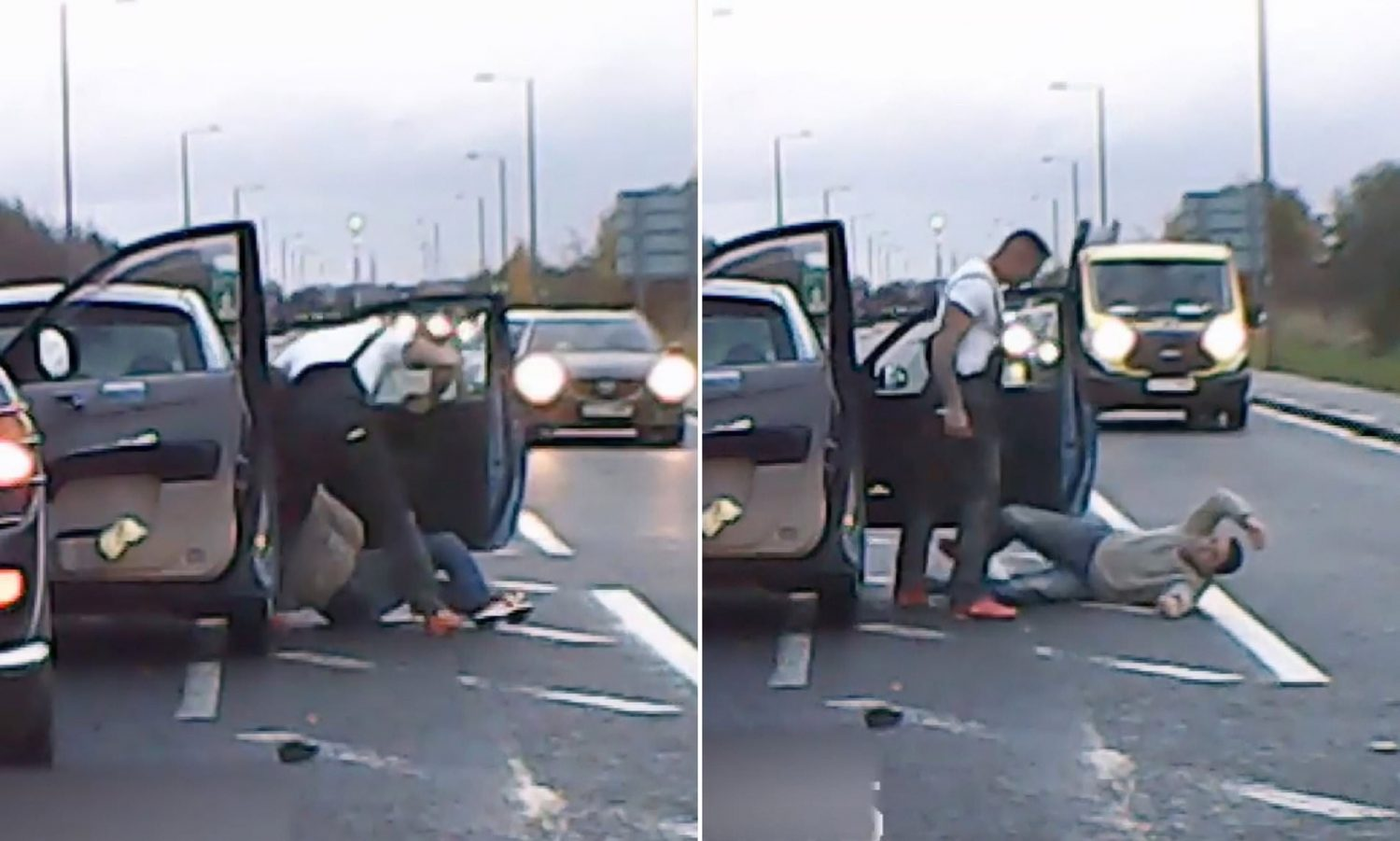 Truck Driver Pulled Man Out Of Car And Beat Him For Making W**Ker Hand Signal