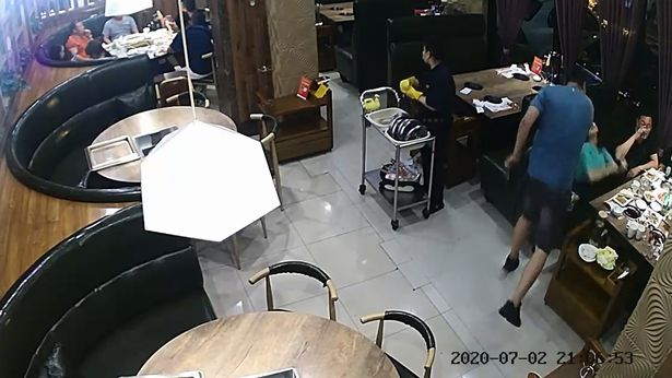 husband knocks out 'cheating wife in one slap in front of lovers' in restaurant