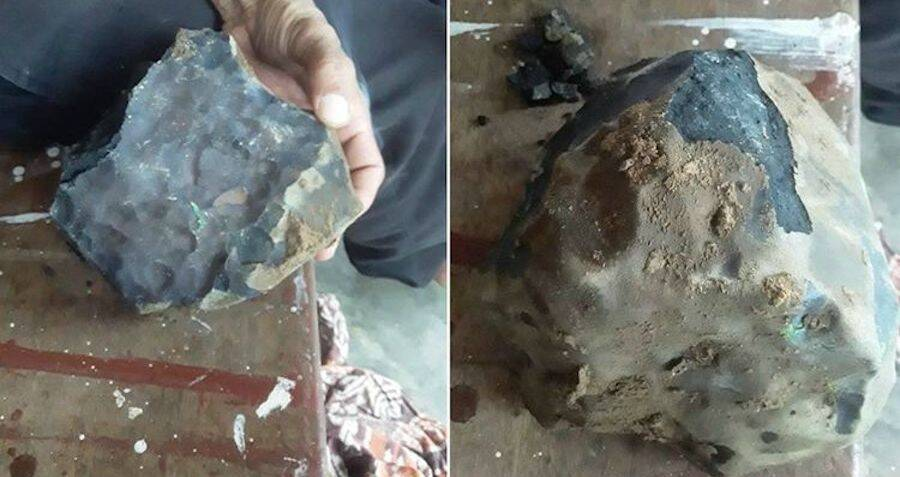 man becomes instant millionaire when football-sized meteorite crashes through his roof