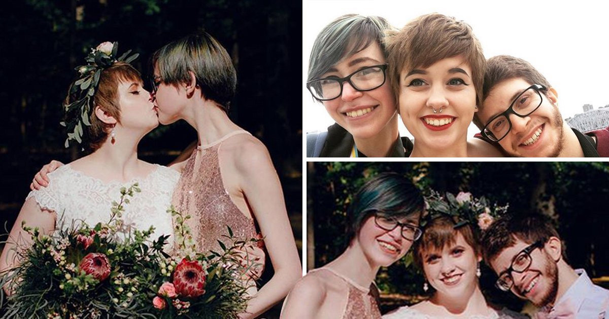 bride falls for bridesmaid at her wedding and they now live as a threesome