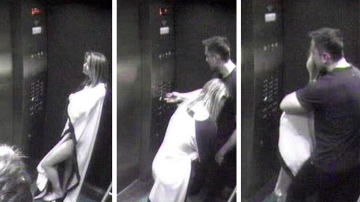 swimsuit-clad amber heard is caught on surveillance tape cuddling up to elon musk
