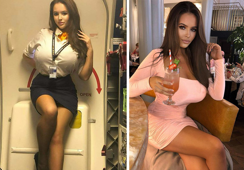 meet simone goodall, gorgeous flight attendant