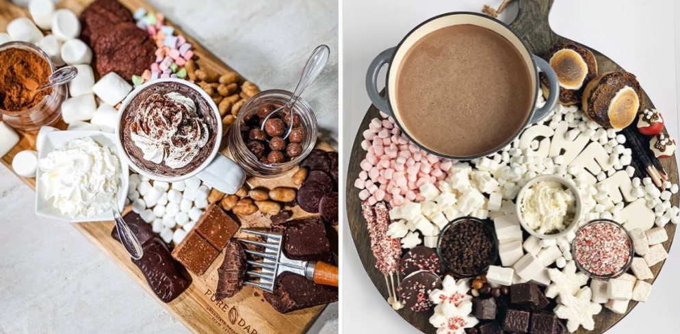 hot chocolate charcuterie boards are the winter treat dreams are made of