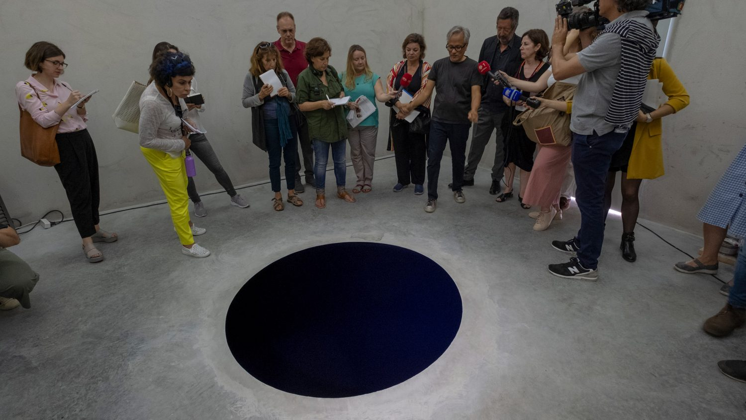 a man fell into an art installation called descent into limbo
