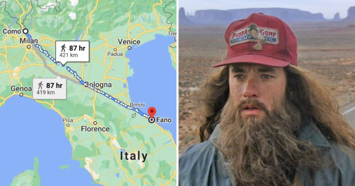 italian man walks 450km to cool off after arguing with wife