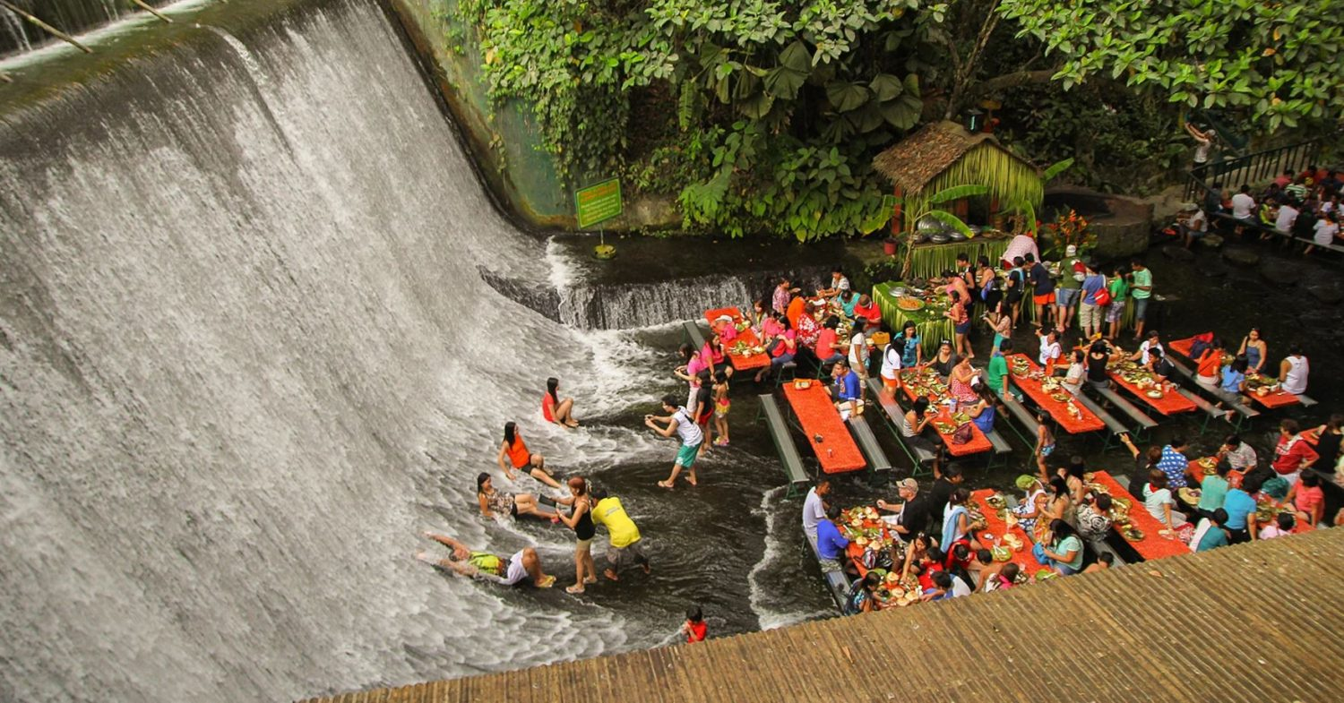 here's where you can eat dinner in the middle of a waterfall