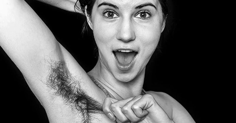 """""""natural beauty"""" photo series challenges restricting female body hair standards"""