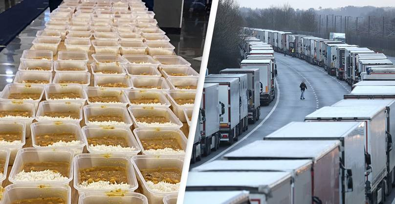 sikh community makes 800 hot meals for stranded lorry drivers in kent