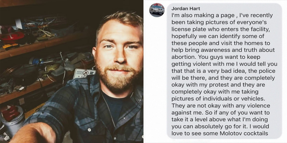 guy takes pictures of car license plates at planned parenthood so he can 'educate' women about abortion at their homes