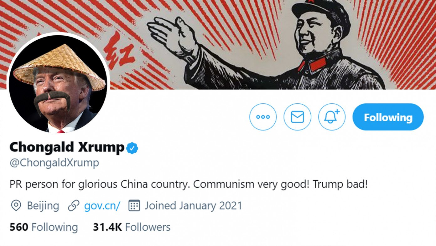 trump sneaks back on twitter by disguising self as pr rep for chinese communist party